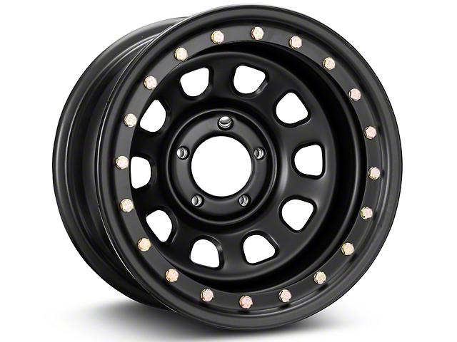 Pro Comp Wheels Steel Series 252 Street Lock Flat Black Wheel; 15x8 (87-95 Jeep Wrangler YJ)