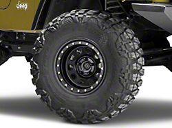 Pro Comp Steel Wheels Steel Series 252 Street Lock Flat Black Wheel - 15x8 (87-06 Jeep Wrangler YJ & TJ)
