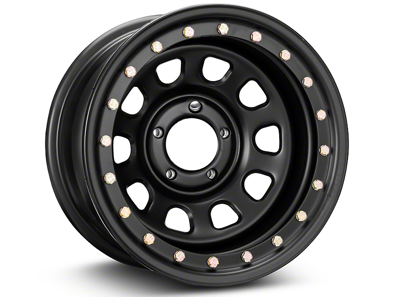 Pro Comp Wheels Steel Series 252 Street Lock Flat Black Wheel - 15x8 (87-95 Jeep Wrangler YJ)