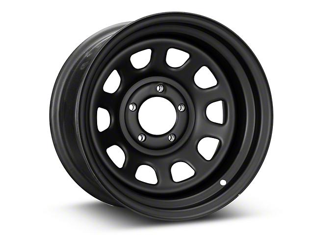 Pro Comp Wheels Steel Series 51 District Flat Black Wheel - 15x8 (87-95 Jeep Wrangler YJ)