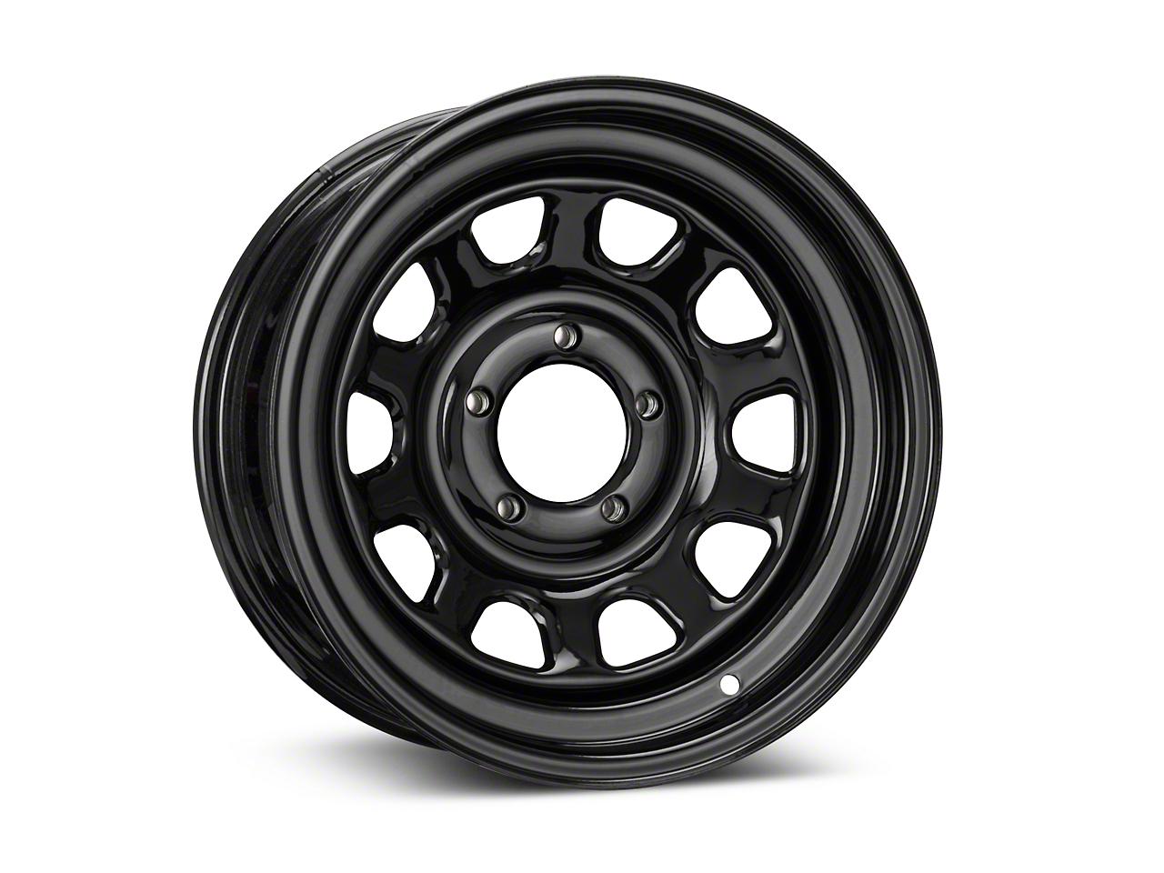 Pro Comp Steel Series 52 Rock Crawler Gloss Black Wheel - 15x7 (87-06 Jeep Wrangler YJ & TJ)