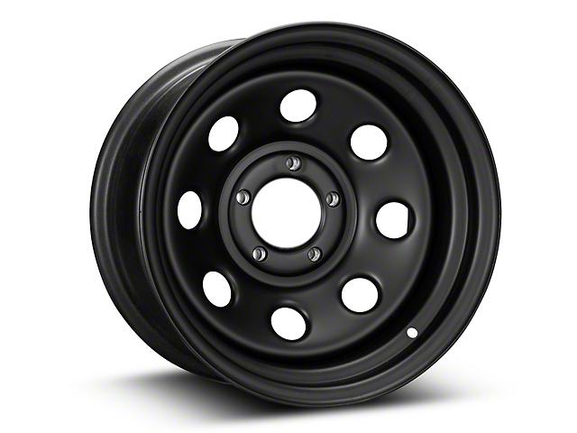 Pro Comp Wheels Steel Series 97 Rock Crawler Flat Black Wheel; 15x8 (87-95 Jeep Wrangler YJ)