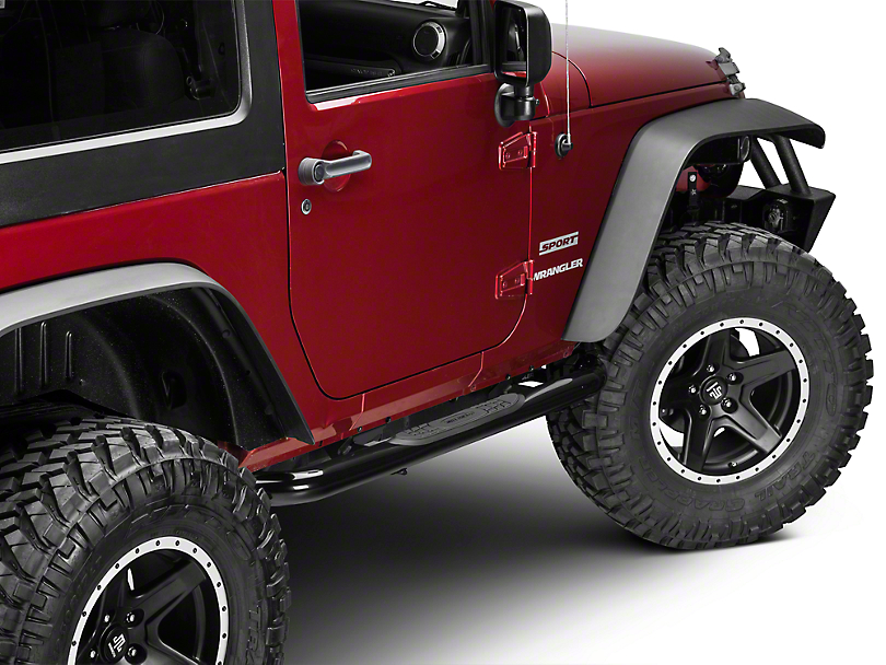Smittybilt 3 in. Sure Side Step Bars - Gloss Black (07-11 Jeep Wrangler JK 2 Door)