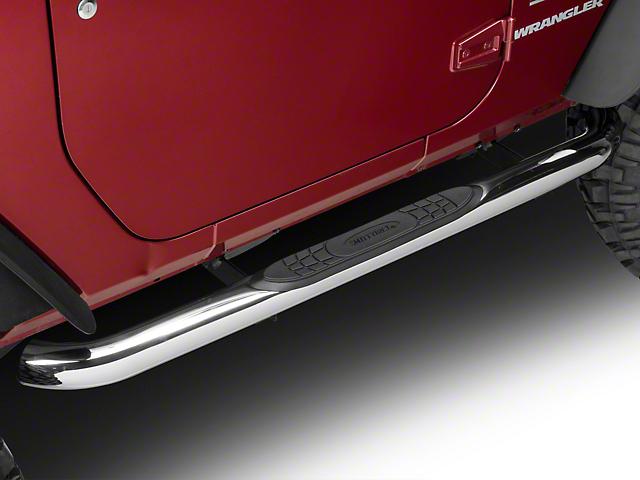 Smittybilt 3 in. Sure Side Step Bars - Stainless Steel (07-11 Jeep Wrangler JK 2 Door)