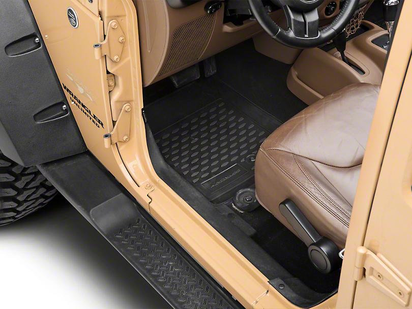 Profile Front Floor Mats - Black (07-18 Jeep Wrangler JK)