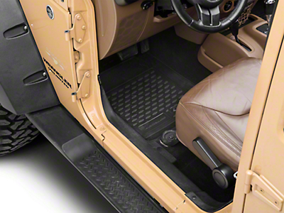 Westin Profile Front & Rear Floor Liners - Black (07-18 Wrangler JK 4 Door)