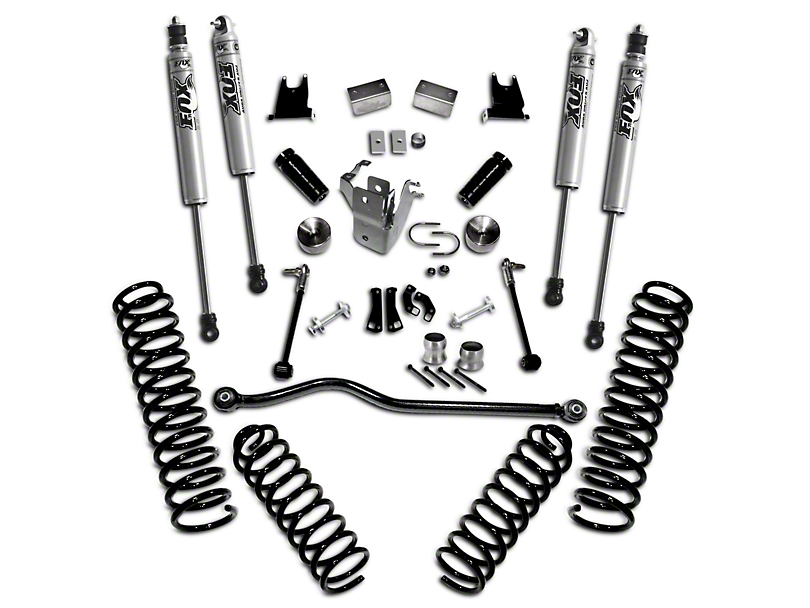 SuperLift 4-Inch Suspension Lift Kit with Shocks (07-18 Jeep Wrangler JK 4 Door)