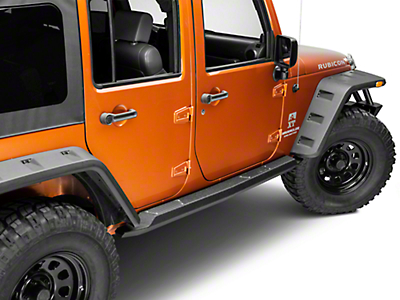 Smittybilt XRC Atlas Rock Sliders w/ Step - Textured Black (07-18 Wrangler JK 4 Door)