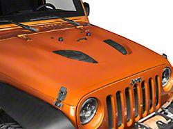 Smittybilt SRC Stingray Vented Hood; Unpainted (07-18 Jeep Wrangler JK)