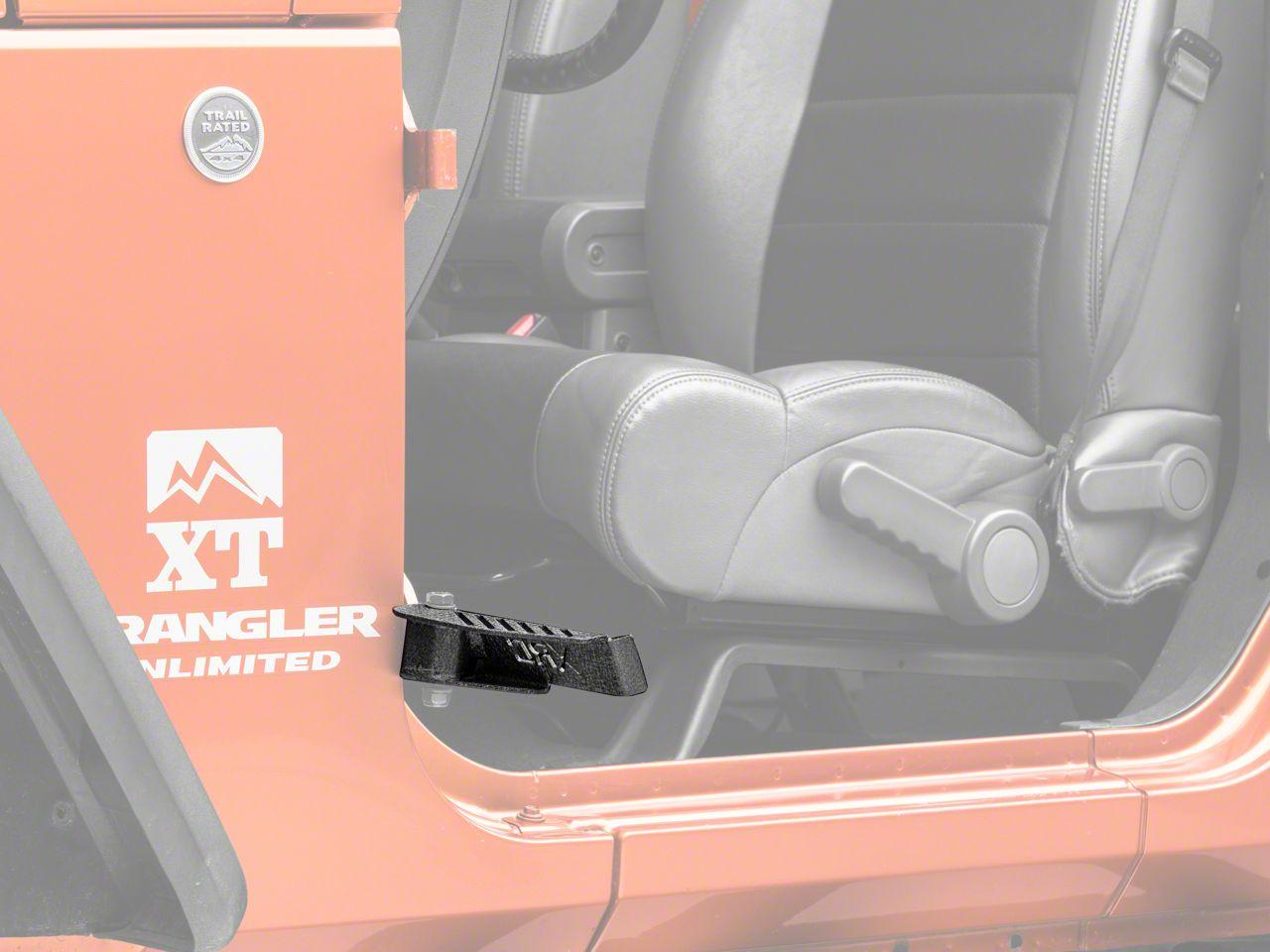 184 Front Foot Pegs Lantsun Black Steel Peg for 2007-2017 Jeep Wrangler JK 2DR JKU 4DR JL-1 Pair