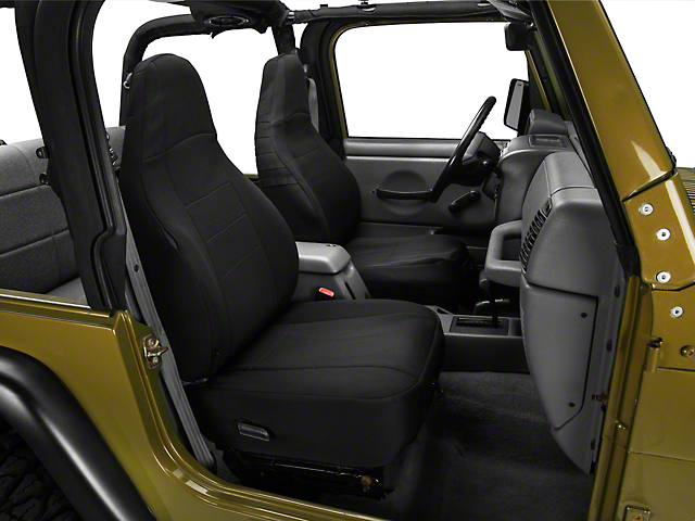 Smittybilt G.E.A.R Custom Fit Front Seat Covers; Black (97-06 Jeep Wrangler TJ)