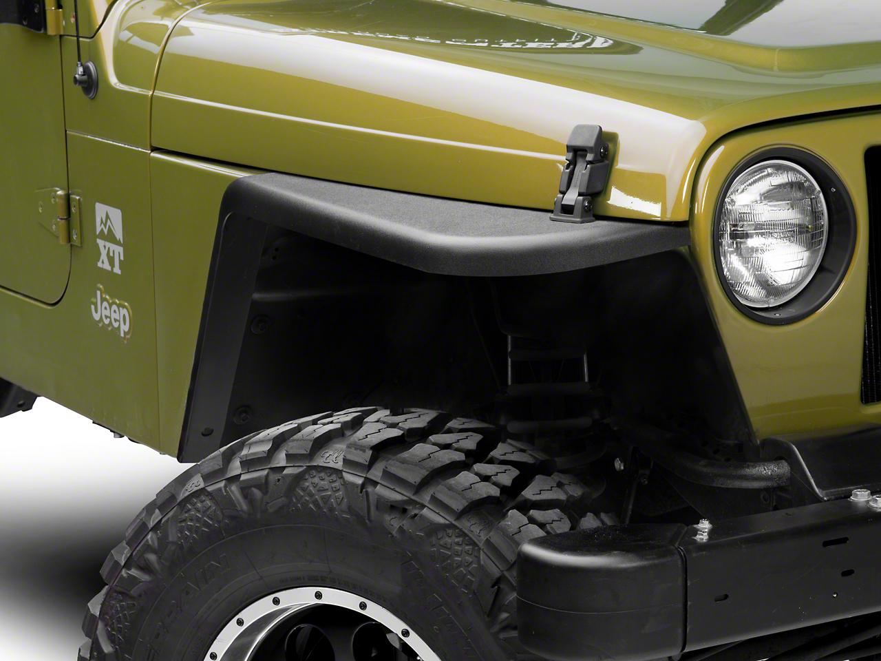 MCE Gen II 3 in. Flat Fender Flares - OE-Style Finish (97-06 Jeep Wrangler TJ)