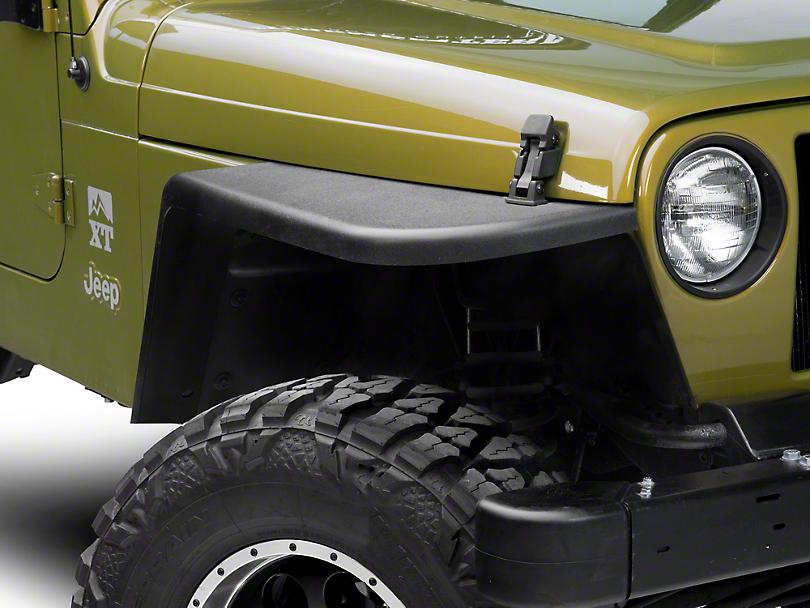 MCE Gen II 4.5 in. Flat Fender Flares - OE-Style Finish (97-06 Jeep Wrangler TJ)