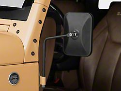 Barricade Rectangular Adventure Mirrors; Textured Black (87-20 Jeep Wrangler YJ, TJ, JK & JL)