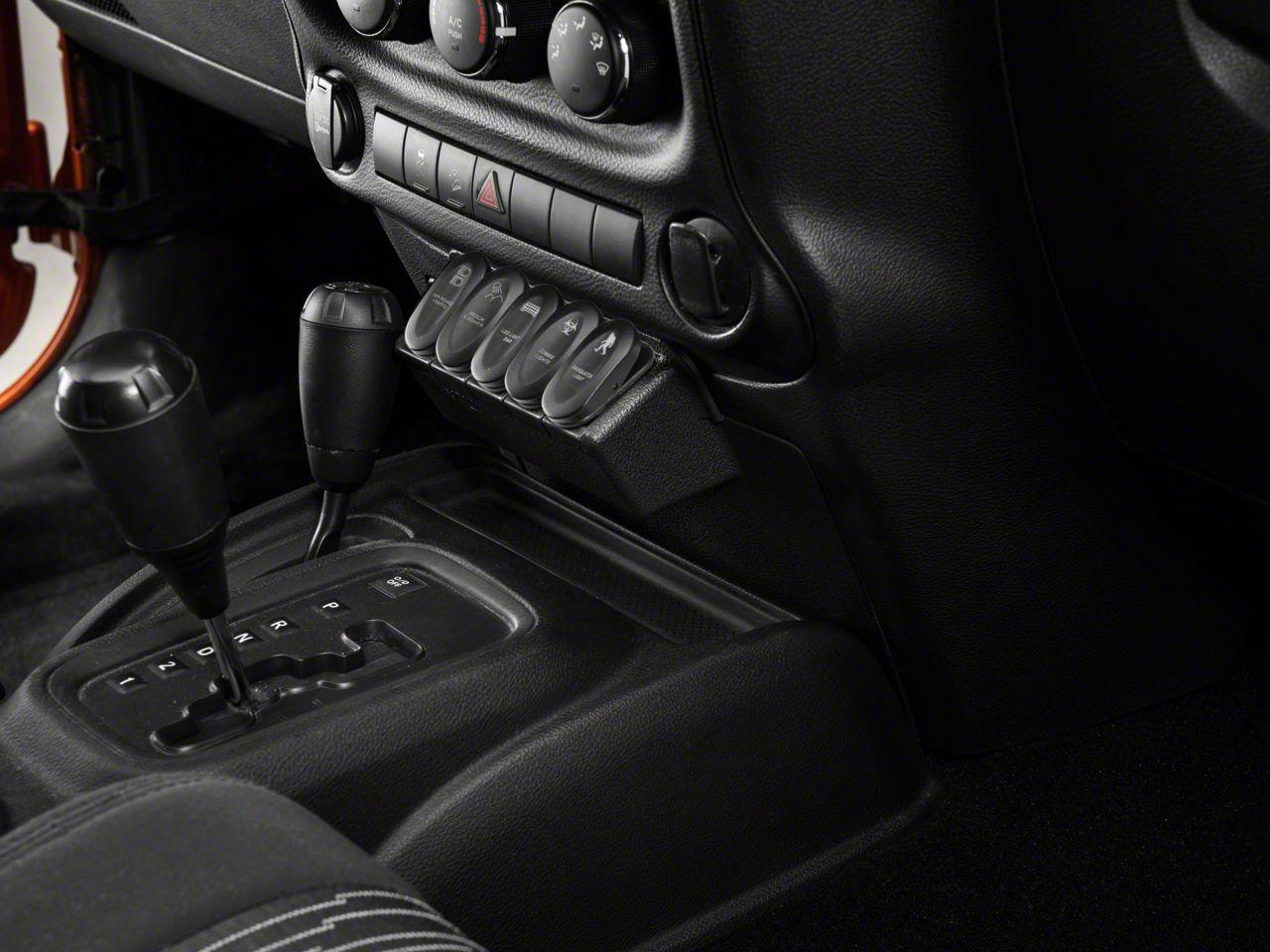 Rugged Ridge Etched Lower 5 Switch Panel Kit (11-18 Jeep Wrangler JK w/ Automatic Transmission)