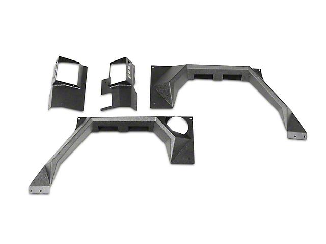 Rugged Ridge XHD Rear Steel Body Armor Fenders (07-17 Wrangler JK 2 Door)