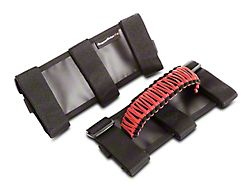 Rugged Ridge Paracord Grab Handles; Red and Black (87-20 Jeep Wrangler YJ, TJ, JK & JL)