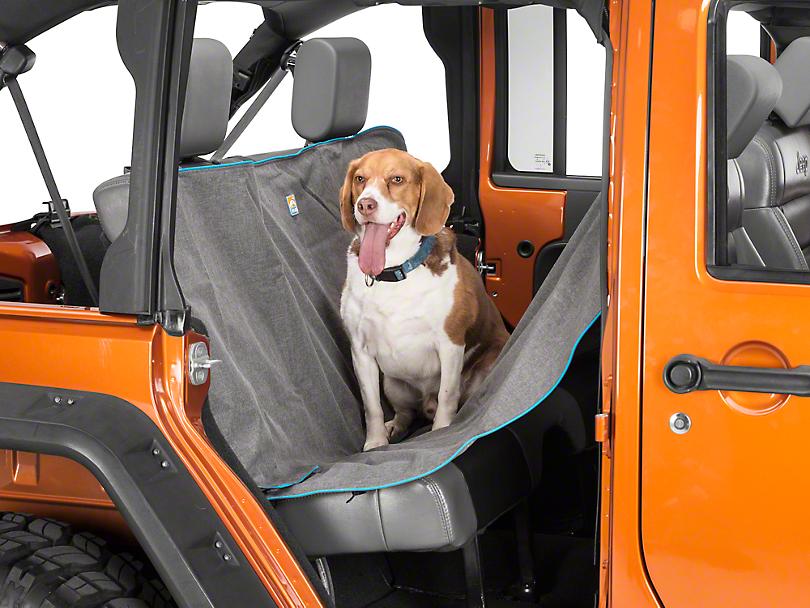 Kurgo Heather Pattern Dog Hammock - Charcoal (87-19 Jeep Wrangler YJ, TJ, JK & JL)