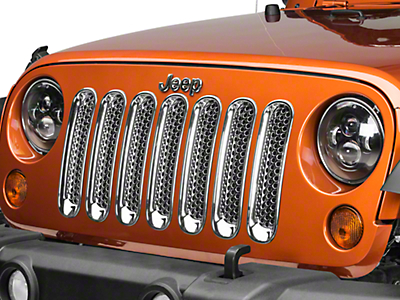 Putco ABS Trim Grille Covers - Chrome (07-18 Jeep Wrangler JK)