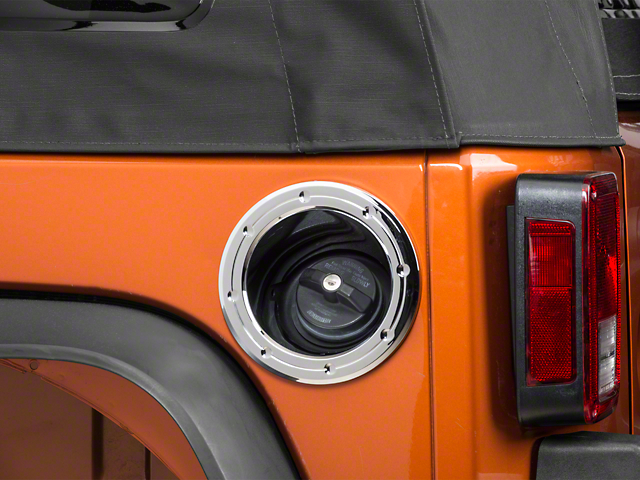 ABS Fuel Tank Door Cover - Chrome (07-18 Jeep Wrangler JK)