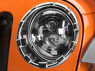 Putco ABS Headlamp Overlay Rings - Chrome (07-18 Jeep Wrangler JK)