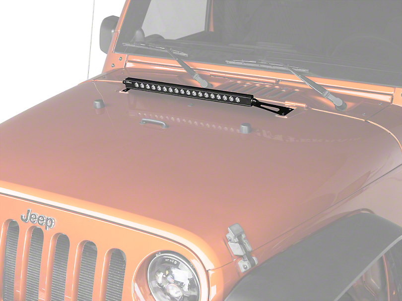 Putco 20 in. Luminix LED Light Bar w/ Hood Mounting Brackets (07-18 Jeep Wrangler JK)
