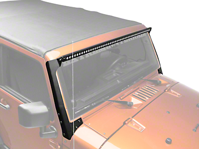 Putco 50 in. Luminix LED Light Bar w/ Windshield Mounting Brackets (07-18 Wrangler JK)