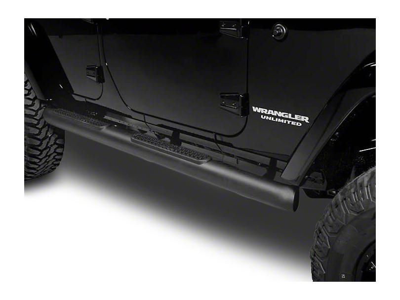 Putco 4 in. Wheel-to-Wheel Boss Bars - Black (07-18 Wrangler JK 4 Door)