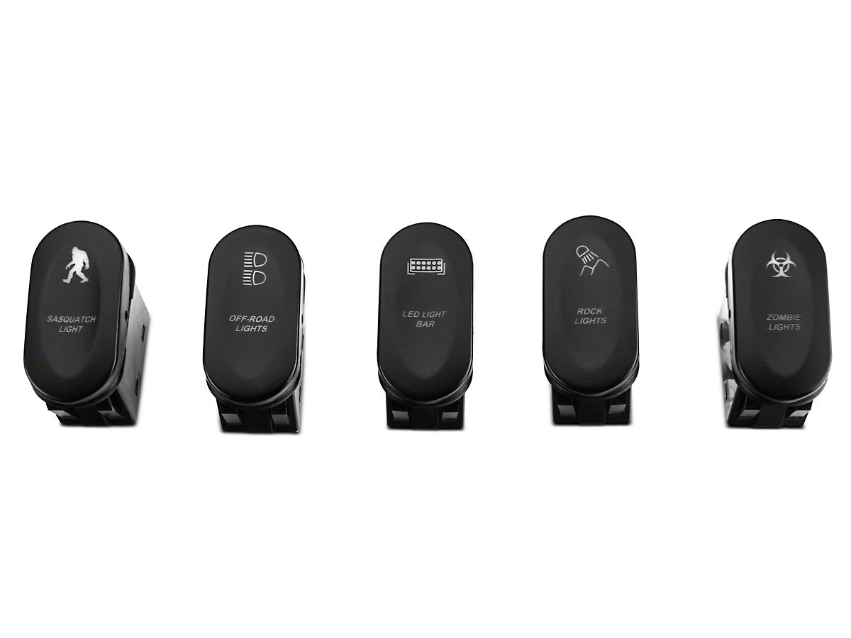 Rugged Ridge Black A-Pillar Switch Pod w/ 5 Rocker Switches - Left Hand  Drive (11-18 Jeep Wrangler JK)