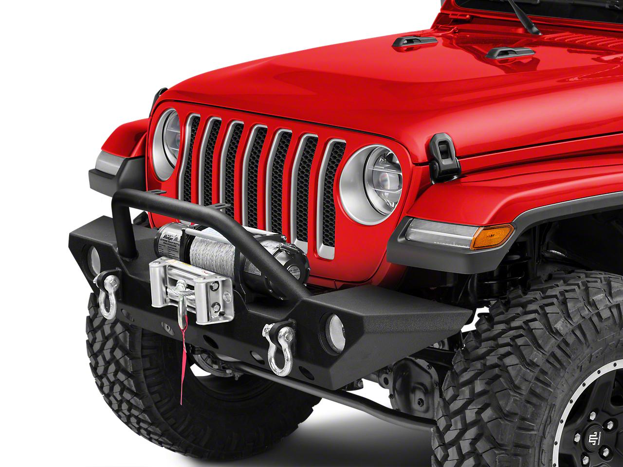 Barricade Trail Force HD Front Bumper & 9,500 lb. Winch Combo (2018 Wrangler JL)
