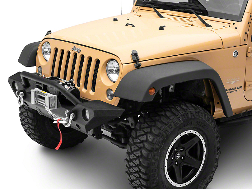 Barricade Trail Force HD Front Bumper & 9,500 lb. Winch Combo (07-18 Jeep Wrangler JK)