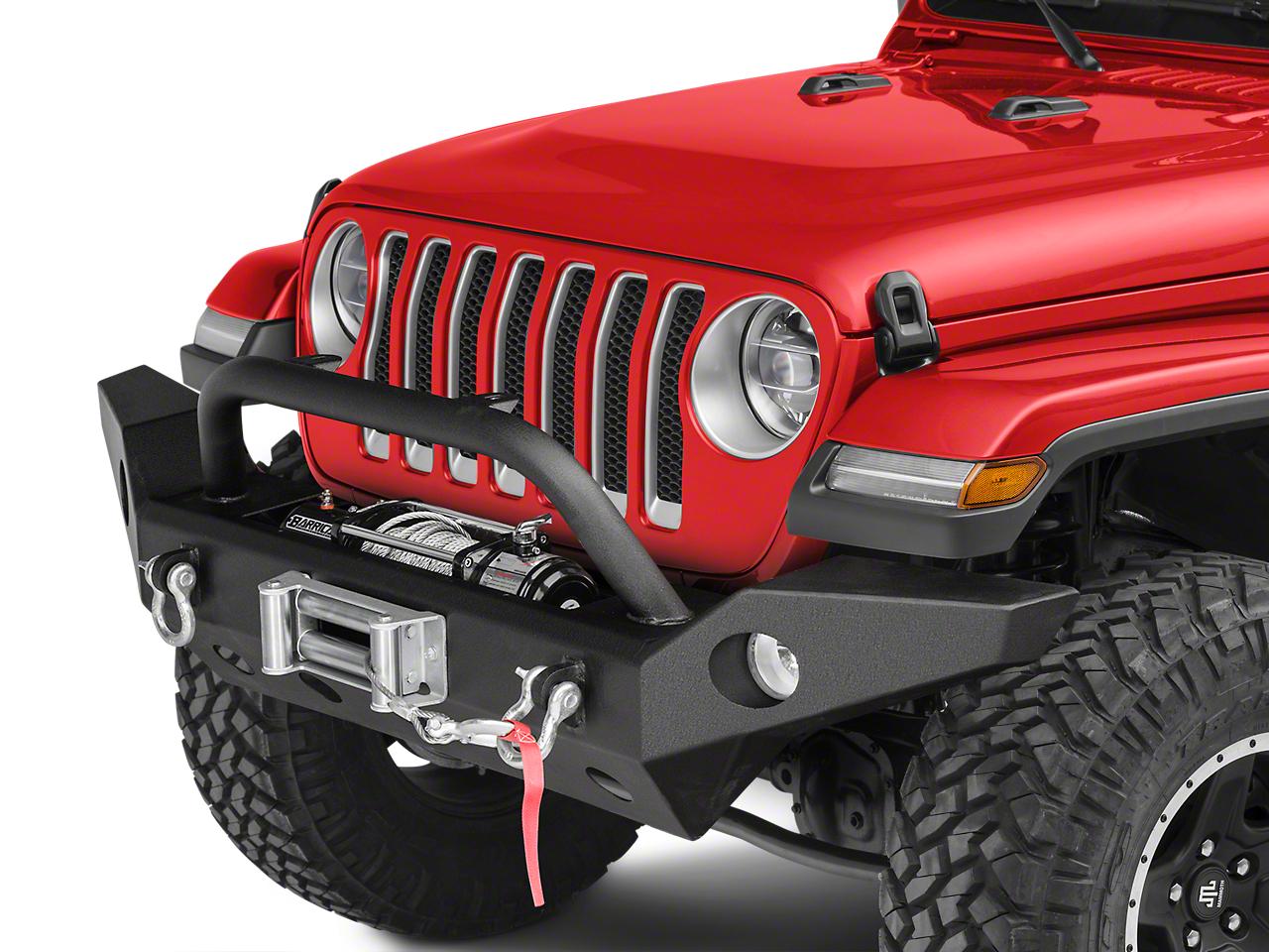 Barricade Trail Force HD Full Width Front Bumper & 9,500 lb. Winch Combo (2018 Jeep Wrangler JL)