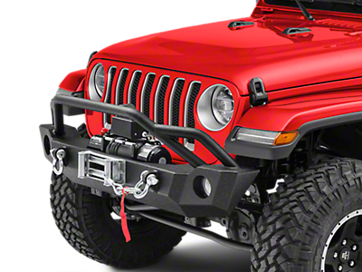 Barricade Extreme HD Front Bumper & 9,500 lb. Winch Combo (2018 Wrangler JL)