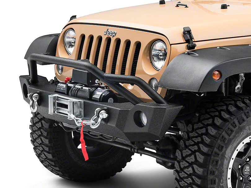 Barricade Extreme HD Front Bumper & 9,500 lb. Winch Combo (07-18 Wrangler JK)