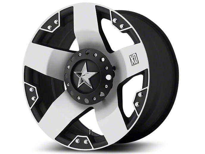 Rockstar XD775 Black Machined Wheel - 18x9 (07-18 Jeep Wrangler JK; 2018 Jeep Wrangler JL)