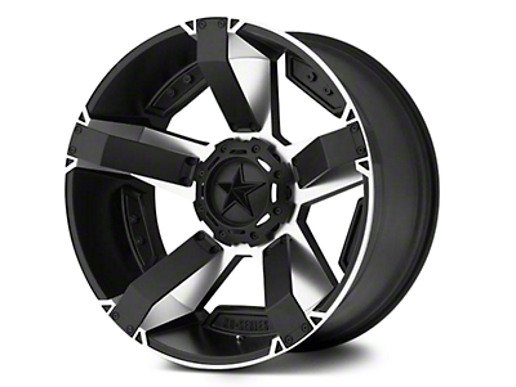 Rockstar XD811 RS2 Black Machined Wheel - 18x9 (07-18 Jeep Wrangler JK; 2018 Jeep Wrangler JL)