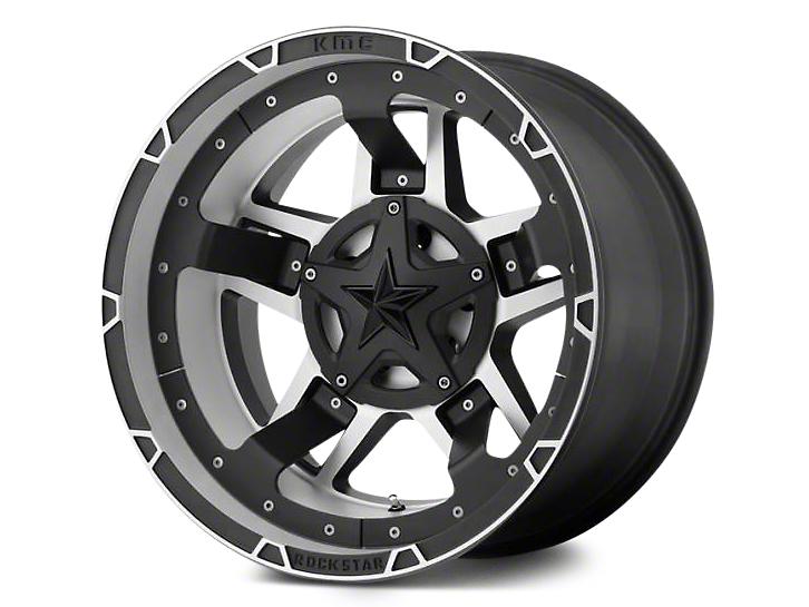 Rockstar XD827 RS3 Matte Black Machined Wheel - 18x9 (07-18 Jeep Wrangler JK; 2018 Jeep Wrangler JL)