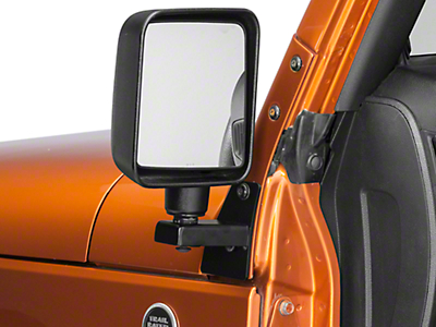 M.O.R.E. Mirror Mounting Brackets for Door-Off Applications (07-17 Wrangler JK)