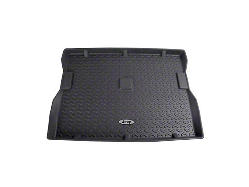 Rugged Ridge All-Terrain Cargo Liner w/ Jeep Logo - Black (87-95 Jeep Wrangler YJ)