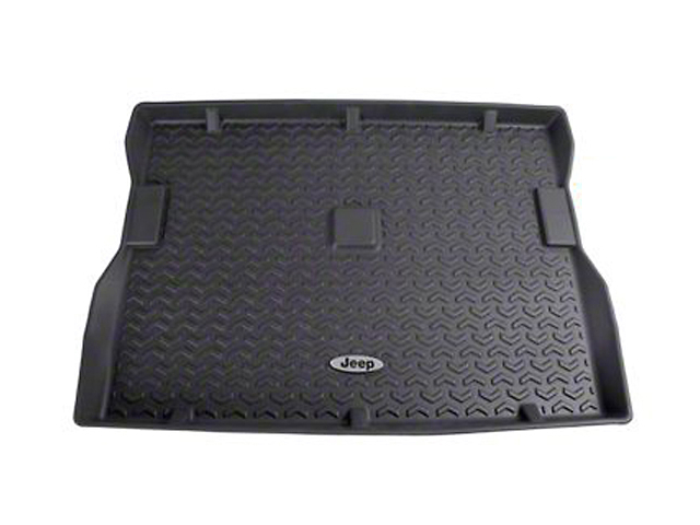 Rugged Ridge All-Terrain Cargo Liner with Jeep Logo; Black (87-95 Jeep Wrangler YJ)