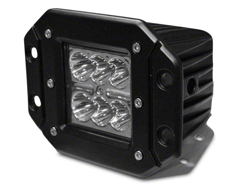 DV8 OffRoad Wrangler 3 in Chrome Series Flush Mount LED Cube