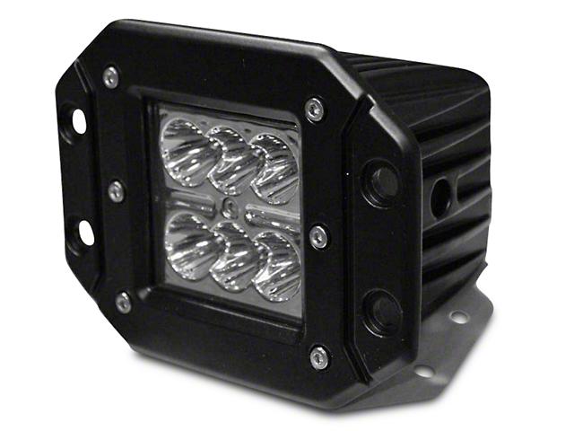 DV8 Offroad 3-Inch Chrome Series Flush Mount LED Cube Light; Spot Beam