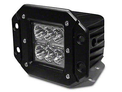 DV8 Off-Road 3 in. Chrome Series Flush Mount LED Cube Light - Spot Beam (87-18 Wrangler YJ, TJ, JK & JL)