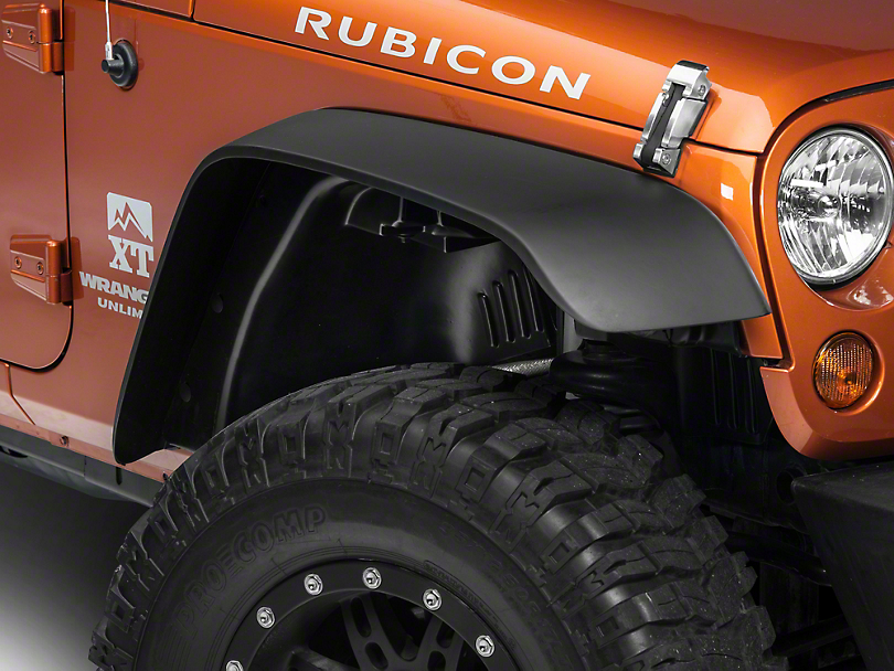 Rugged Ridge A/T Flat Fender Flare Kit, w/ liners (07-18 Wrangler JK)
