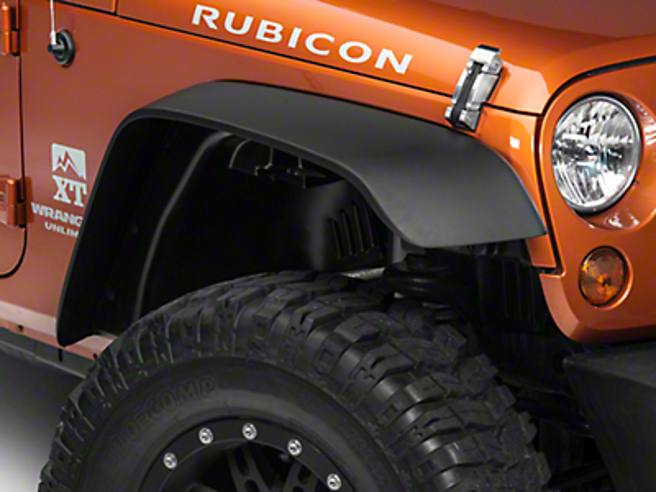 Rugged Ridge A/T Flat Fender Flare Kit, 4 Piece (07-18 Jeep Wrangler JK)