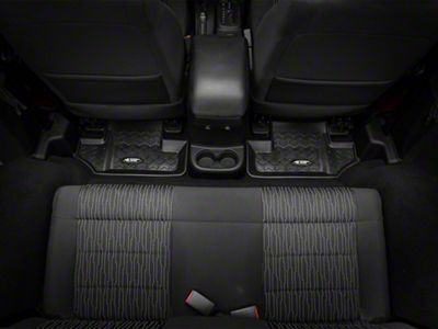 Rugged Ridge All-Terrain Rear Floor Mat - Black (07-18 Jeep Wrangler JK 2 Door)