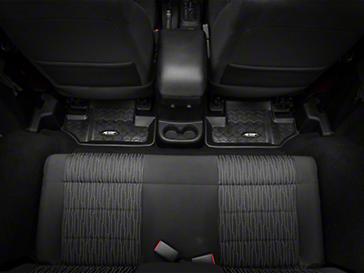 Rugged Ridge All Terrain Rear Floor Liner - Black (07-17 Wrangler JK 2 Door)