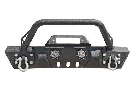 DV8 Off-Road FS-11 Steel Mid Width Front Bumper w/ LED Lights (07-18 Jeep Wrangler JK)