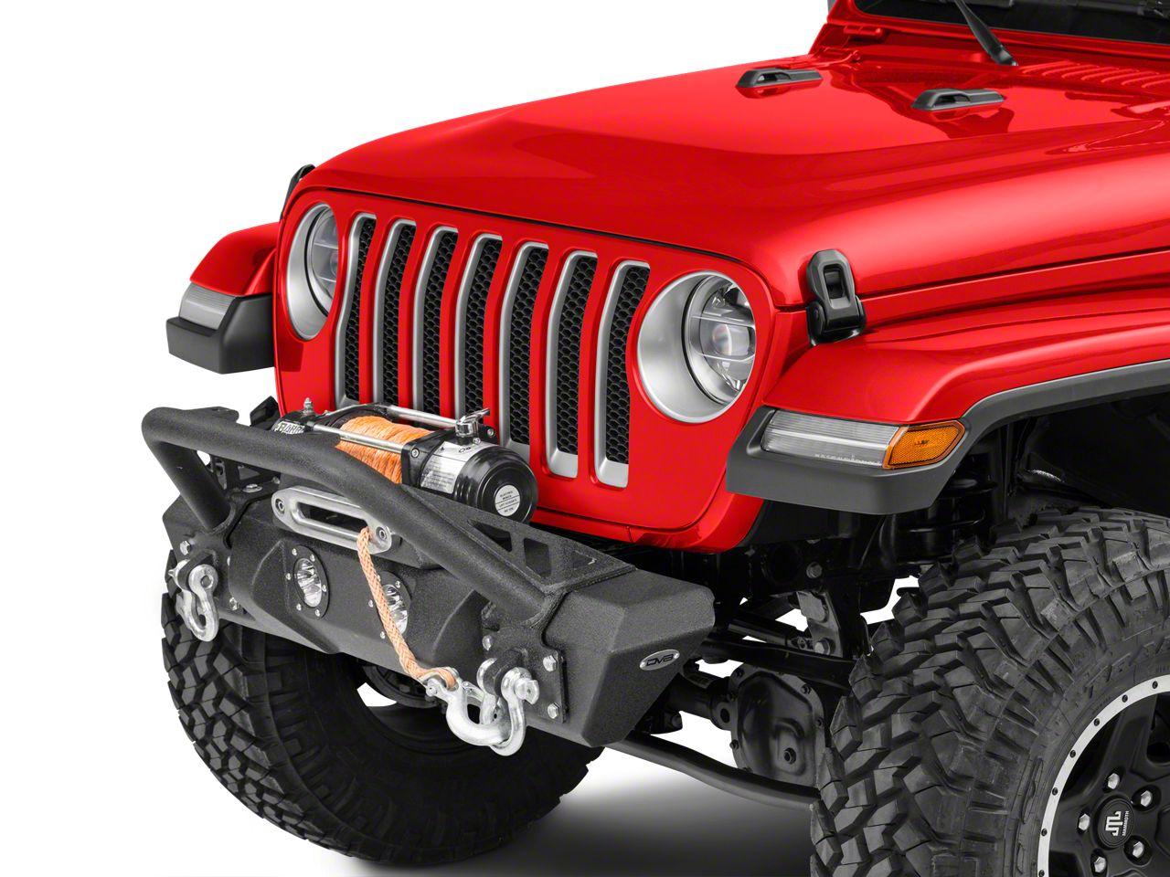 DV8 Off-Road FS-11 Steel Mid Width Front Bumper w/ LED Lights (18-19 Jeep Wrangler JL)