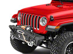 DV8 Offroad FS-11 Steel Mid Width Front Bumper with LED Lights (18-20 Jeep Wrangler JL)